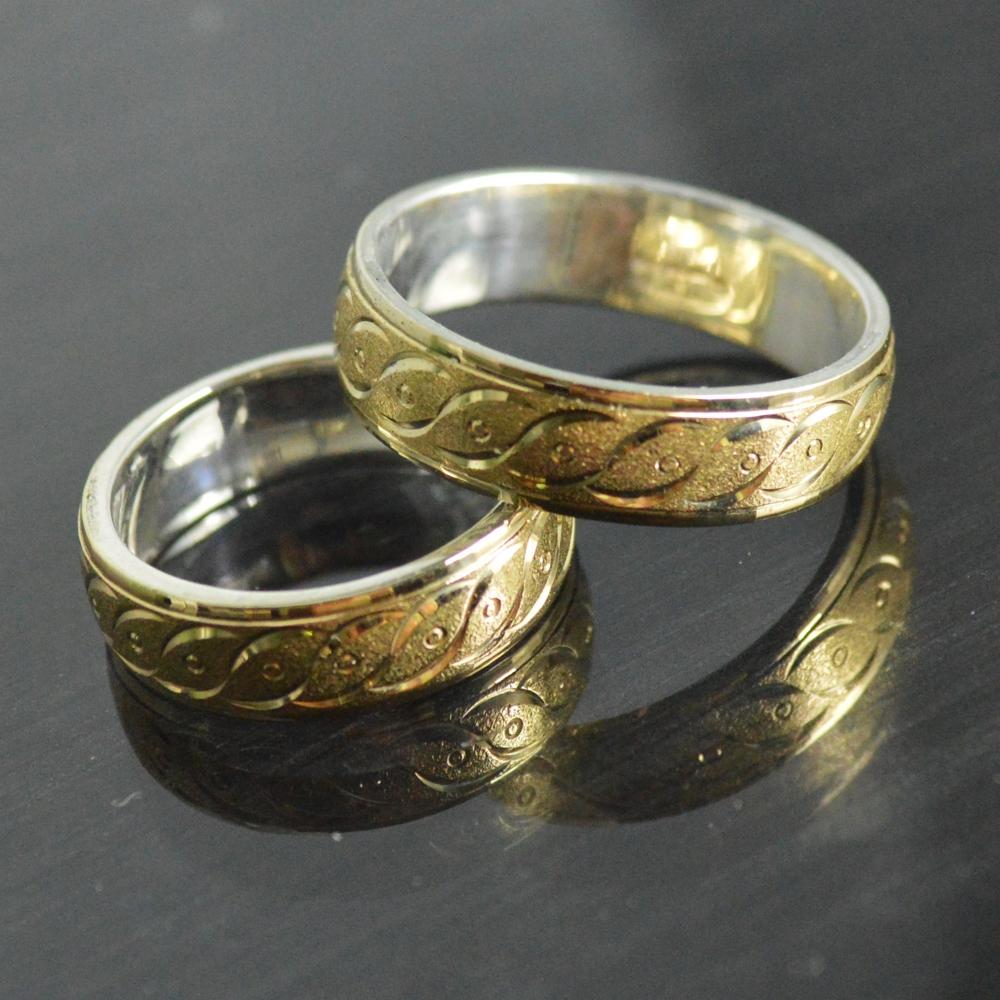 1b2697ab09bc argollas para matrimonio 4 ORO-PLATA